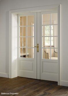 White internal French doors with insert panel :)
