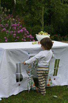 tablecloth playhouse for kids, diy and craft ideas
