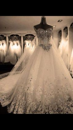 Cheap robe de mariage, Buy Quality bridal gown directly from China gown wedding Suppliers: Women 2016 Bandage Tube Top Crystal Luxury Wedding Dress Bridal gown wedding dresses vestido de noiva Robe De Mariage Lace Wedding Dress, Dream Wedding Dresses, Wedding Gowns, Wedding Day, Bling Wedding, Ivory Wedding, Wedding Photos, Wedding Bride, Wedding Inspiration