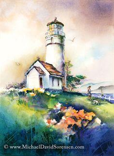 Cape Blanco Light by Michael David Sorensen