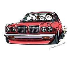 """""""crazy car art"""" jdm japanese old school """"SAMEBURU"""" original characters """"mame mame rock"""" / © ozizo Official web shop """"STAY CRAZY (in Society6)"""" Official web shop """"ozizo(in Redbubble)"""" """"Crazy Car Art"""" Line stickers """"Crazy car Art"""" Telegram stickers"""