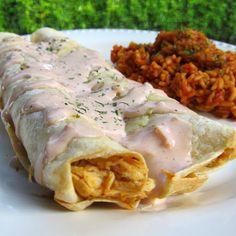 Crock-Pot Chicken Ranch Enchiladas