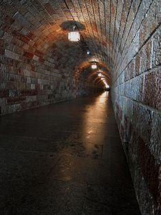 Access Tunnel to  Kehlsteinhaus , Hitler' s Eagle's Nest , in the Bavarian Alps near Berchtesgaden .