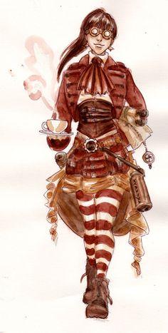 steampunk belly dance costume