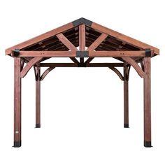 Backyard Discovery Sonora 12 ft. x 12 ft. Premium Cedar ... on Backyard Discovery Pavilion id=95159