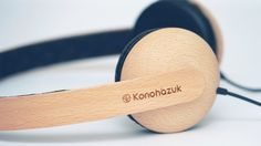 Handmade Japanese Wooden Headphones by Konohazuk