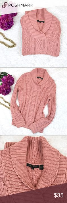 """Jeanne Pierre Cable Knit Sweater New without tags Jeanne Pierre Cable Knit Sweater. Beautiful Dusty Rose/Blush Color.  Length: 23"""" Bust: 36"""" Arm: 23"""" Jeanne Pierre Sweaters"""