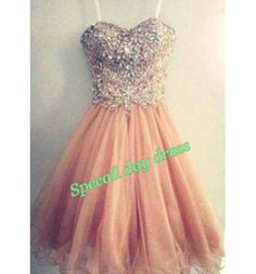 Short prom dress , bridesmaid dresses, baby doll dress, sweetheart party dress, cocktail dress on Wanelo
