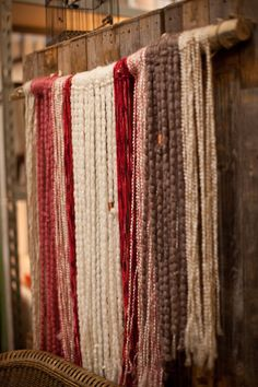 Yarn wall hanging | On Solid Ground Vintage Rentals | Inspired by Heather