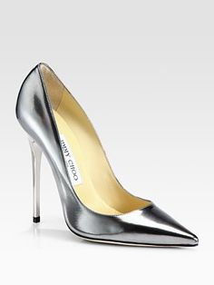 Jimmy Choo - Anouk Metallic Leather Pumps - Saks.com