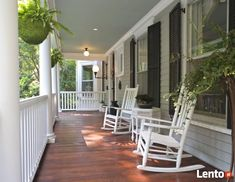 Front Porch ideas - Who doesn't love a beautiful front porch? We are your portal for front porch designs, front porch ideas and more. Visit our galleries of porch pictures. Front Porch Railings, Front Porch Design, Porch Designs, Front Deck, Front Entry, Southern Front Porches, Country Porches, Saint Claude, Porch Wood
