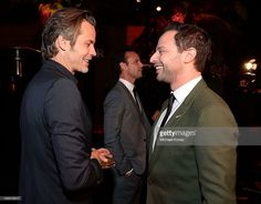 Actors Timothy Olyphant (L) and Paul Scheer attend The Paley Center for Media's 2013 benefit gala honoring FX Networks with the Paley Prize for Innovation & Excellence at Fox Studio Lot on October 16, 2013 in Los Angeles, California.