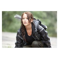 Lionsgate Releases New Photos of Jennifer Lawrence as Katniss Everdeen ❤ liked on Polyvore featuring hunger games, jennifer lawrence and pictures