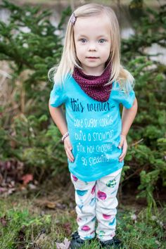 this winter...bake sugar cookies - build a snowman - drink hot chocolate - go sledding www.followyourarrowshop.etsy.com leggings: @littlefacesapparel Knitted Scarf @ septemberbabyco