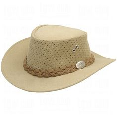 Aussie Chiller Bushie Perforated Hats Beige Large Men's Fashion * You can find out more details at the link of the image.