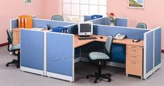 www.shineofficefurniture.com partisi kantor UNO 4 Staff by Shine Furniture