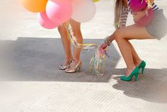 balloons + shoes + color