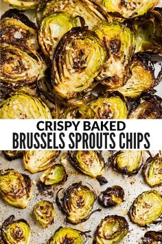 Thinly sliced Brussels sprouts baked to crispy perfection, these easy Brussel sprouts chips taste absolutely addictive! Serve them as a healthy side, snack, or appetizer. One of our very favorite ways to make roasted Brussels sprouts! via @wellplated
