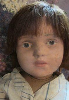 "Antique 21"" Schoenhut Wooden Jointed Doll"