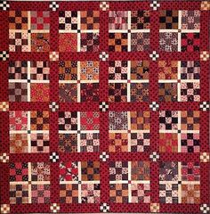 Quilt Pattern Primitive Civil war quilting by PrimitiveQuilting . Would Like with Jelly Roll Fabric Old Quilts, Antique Quilts, Small Quilts, Mini Quilts, Vintage Quilts, Scrappy Quilts, Quilting Projects, Quilting Designs, Country Quilts