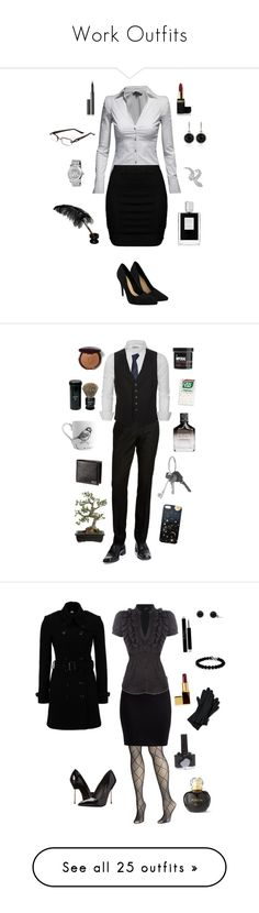 """""""Work Outfits"""" by conquistadorofsorts ❤ liked on Polyvore featuring Jane Norman, Zizzi, Sheila Kay, Surratt, Elizabeth Arden, Michael Kors, White House Black Market, Kilian, I.Line and Bobbi Brown Cosmetics"""