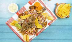 Jalea, Aquí te enseñamos cómo prepararla. Peruvian Recipes, Recipe Collection, Seafood, Tacos, Dairy, Cheese, Ethnic Recipes, Projects, Jelly