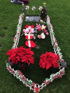 Very simple way to decorate a grave during winter months. Use ...