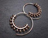 Spiral handmade earrings