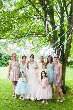 Bride and bridesmaids dresses