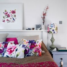 Bluebellgray textiles are known for vibrant, hand-painted florals. Perfect for spring!