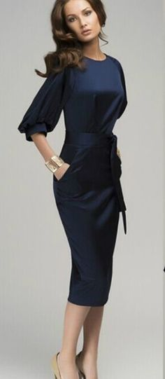 Women Office Summer Casual Lady Party Formal Evening Midi Cocktail Dress S-XXL