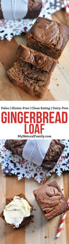 This Paleo gingerbread loaf is easy to make in one bowl and has the same taste and texture as traditional gingerbread, but with wholesome, nutrient-dense ingredients.