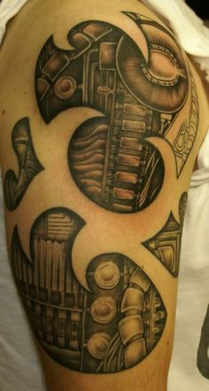 half sleeve biomechanical tattoo ideas - http://tattooswall.com/half-sleeve-biomechanical-tattoo-ideas.html #biomech tattoos, biomechanical, half, ideas, sleeve, tattoo