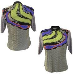 Jamie Sadock Women's Zip Shoulder Pattern Golf Top - Dick's Sporting Goods