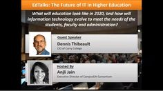 """""""EdTalk: The Future of IT in Higher Education"""" Featuring Dennis Thibeault CIO of @CurryEdu http://ift.tt/1pjBbj5 #highered #education"""