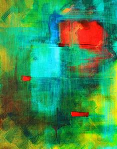 Red Dash Abstract Painting by Nancy Merkle; Original and Fine Art Reproduction Prints for Sale