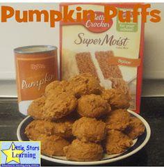 Little Stars Learning: Pumpkin Puffs
