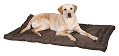Slumber Pet Water-Resistant Beds    Comfortable and Durable Nylon Beds for Dogs and Cats  Small Chocolate