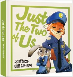 Zootopia Art Coloring Book Just The Two of Us Fun Disney Postcard Character Card