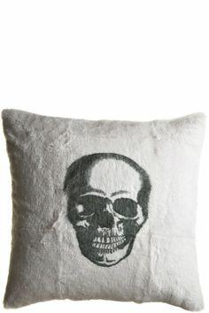 Skull Rabbit Pillow Anthracite