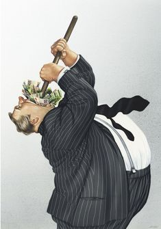 Realistic Drawings by Gerhard Haderer greed Satire, Realistic Drawings, Art Drawings, Pictures With Deep Meaning, Satirical Illustrations, Meaningful Pictures, Deep Art, Social Art, Political Art