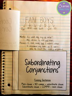 Anchors Away Monday: Conjunction Anchor Chart by Crafting Connections!