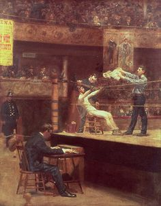 Between Rounds Painting by Thomas Cowperthwait Eakins