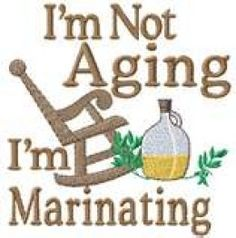 haha ...nice and some people believe I am marinating very well.... thank you