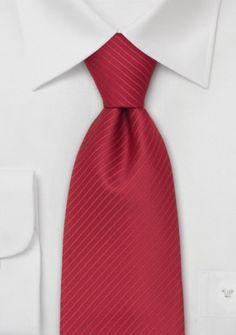 Krawatte in rot mit feinen Streifen