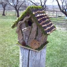 Image result for bark birdhouses