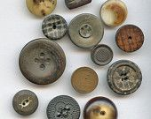 Lot of (12) Assorted Antique Victorian Buttons  COMPOSITION Vegetable Ivory HORN 9455