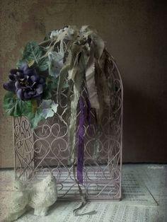 You & Me. Shabby Boho Gypsy Birdcage .Wedding by 3vintagehearts