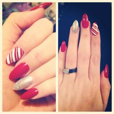Christmas stiletto nails
