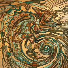 "Saatchi Online Artist Lubov Kirillova; Mixed Media, ""Chameleon"" #art"